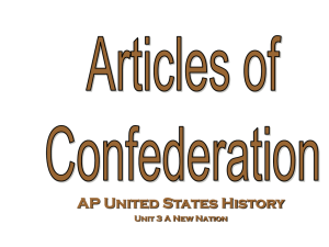 articles of confederation student