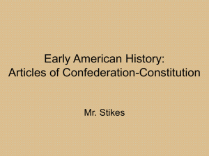 Early American History: Articles of Confederation