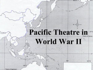 1944 WW 2 Pacific Stage