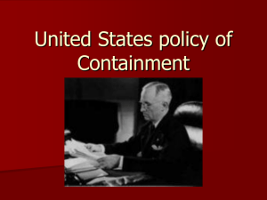 United States policy of Containment
