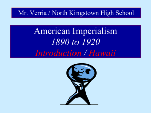 American Imperialism 1890 to 1920