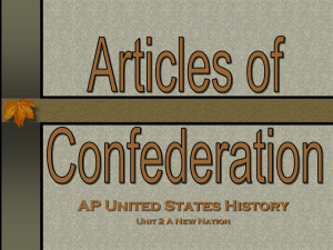 articles of confederation pres