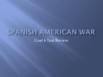 Spanish American War Test Review