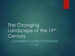 The Changing Landscape of the 19th Century