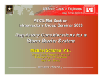 Regulatory Considerations for a Storm Barrier System ASCE Met Section