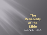 Reliability of Bible