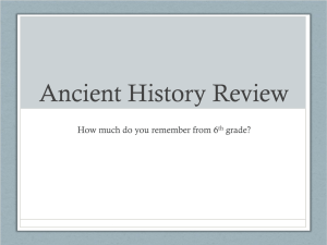 Ancient History Review PowerPoint