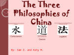 The Three Philosophies of China