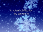 Ancient civilization by savanna