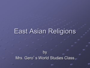 East Asian Religions