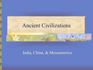 Ancient Civilizations india and china