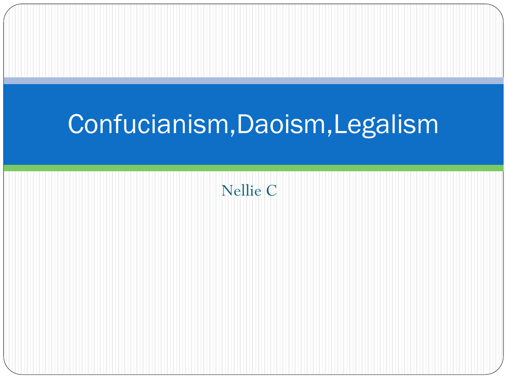 compare confucianism daoism and legalism