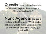 Questio: Which Dynasty ruled China most effectively? Nunc Agenda