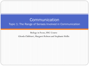 1.1.1 The Range of Senses Involved in Communication