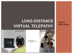 Long-distance virtual telepathy