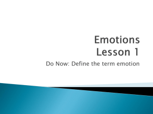 Emotions Lesson 1