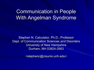 Stephen N. Calculator, Ph.D., Professor Dept. of
