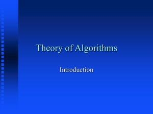 Theory of Algorithms - Baylor University | Texas