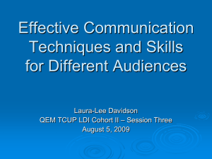 PowerPoint Presentation - Effective Communication Techniques