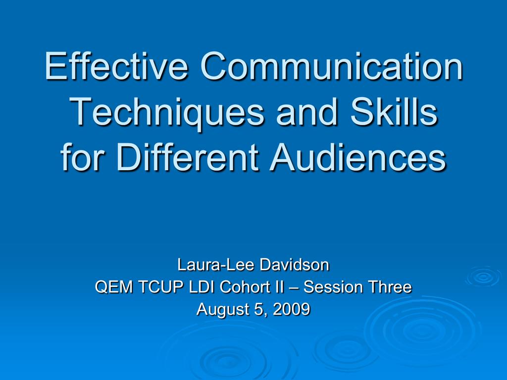 PowerPoint Presentation - Effective Communication Techniques