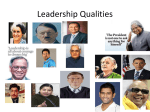 Leadership Qualities - K. L. N. College of Engineering