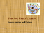Unit Two Virtual Lecture