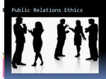 Public Relations Ethics - University of Zululand