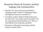 Resuming Nimmo & Swanson: political language and communication