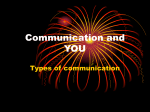 Communication and YOU - South Point High School