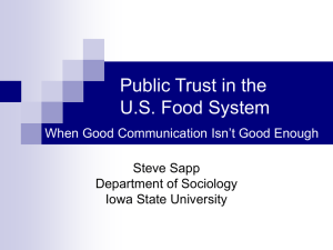 The Sociology of Trust - Department of Sociology