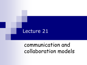 HCI Lecture 21 Communication and Collaboration models