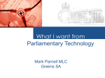 What I want from Parliamentary Technology