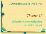 Task Groups Aim to accomplish some definite objective Creating a