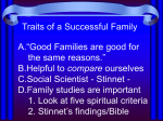 Stinnet: Six Characteristics - Oldham Woods Church of Christ