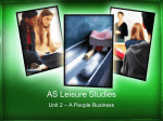 PPT - Leisure Studies