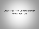 Chapter 1: Communication