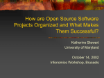 How are Open Source Software Projects Organized and What