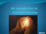 1b Intro to Entrepreneurship