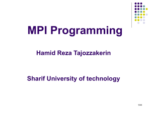 Parallel Programing with MPI