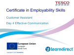 Certificate in Employability Skills