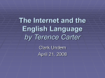 The Internet and the English Language