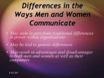 Gender Communication