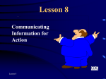 Objectives for Lesson 8