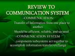 review to communication system
