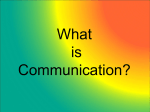 Chapter 1: Communication Overview