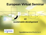 (European Virtual Seminar on Sustainable Development) is to