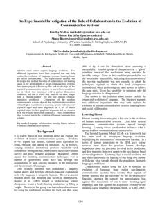 An Experimental Investigation of the Role of Collaboration in the... Communication Systems