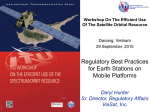 Regulatory Best Practices for Earth Stations on Mobile Platforms Daryl Hunter