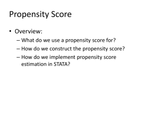 Propensity Score - Hankamer School of Business
