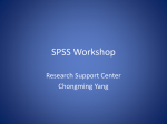 SPSS Workshop - FHSS Research Support Center